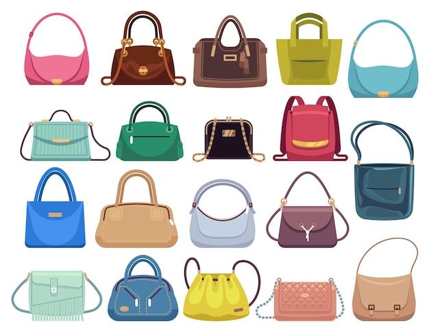Kobieta kolorowa luksusowa nowoczesna torebka z rączką