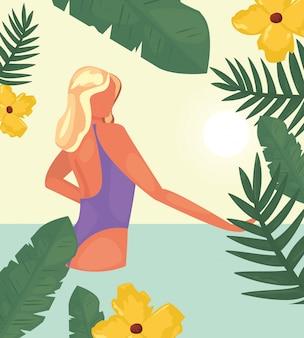 Kobieta letnie wakacje