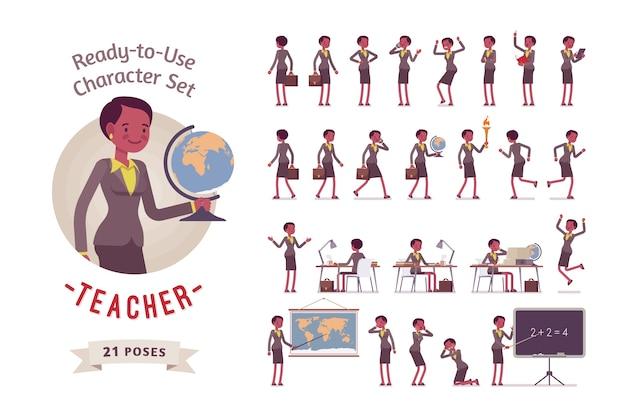 Kobieta młody nauczyciel w wizytowym