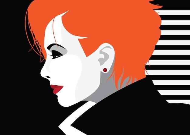 Kobieta moda w stylu pop-artu. ilustracji wektorowych