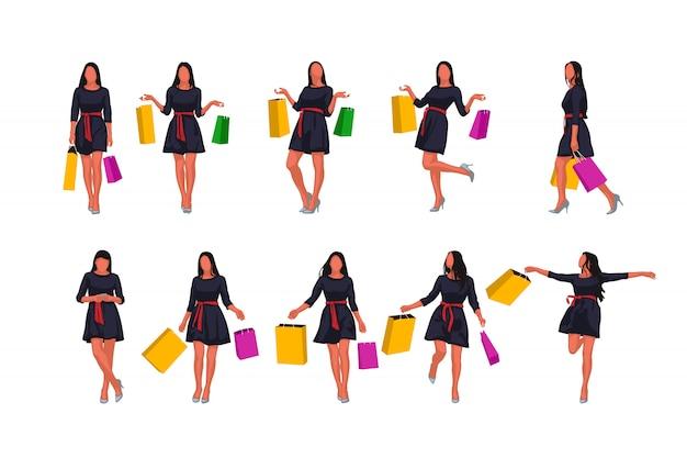 Kobieta moda z torby