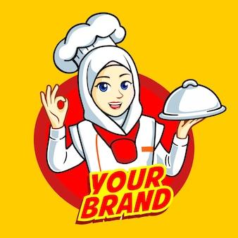 Kobieta muzułmański szef kuchni