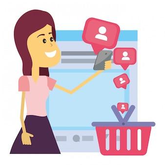 Kobieta na portalach społecznościowych