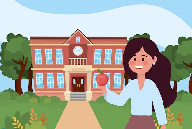 Kobieta nauczyciel szkoły
