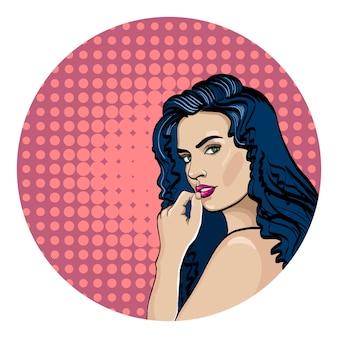 Kobieta pop-artu