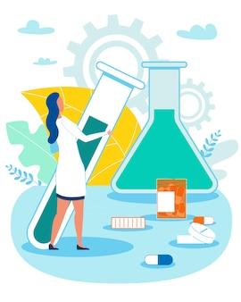 Kobieta pracownik naukowy przeprowadzający analizę