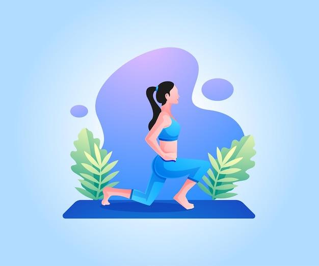 Kobieta robi ćwiczenia ciała treningu