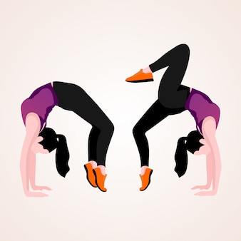 Kobieta robi jogi
