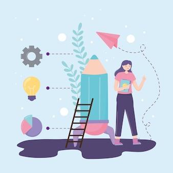 Kobieta stworzyła pomysł na startup