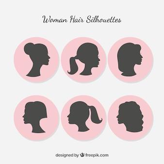 Kobieta sylwetka z stylizacji włosów