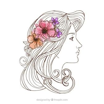 Kobieta, szkic