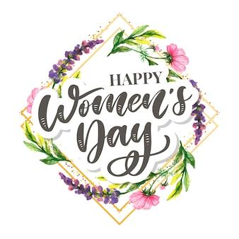 Kobieta tekst projektu dzień z kwiatami
