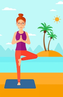 Kobieta uprawiania jogi.