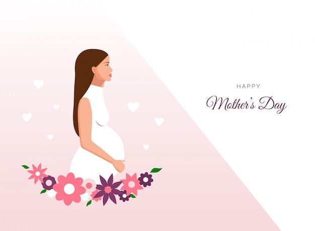 Kobieta w ciąży tło dzień matki