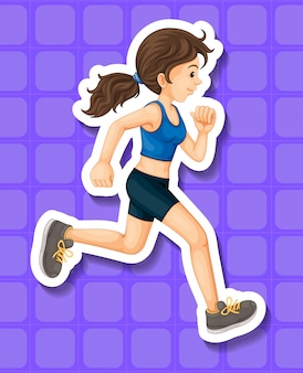 Kobieta w sportowe ubrania do biegania
