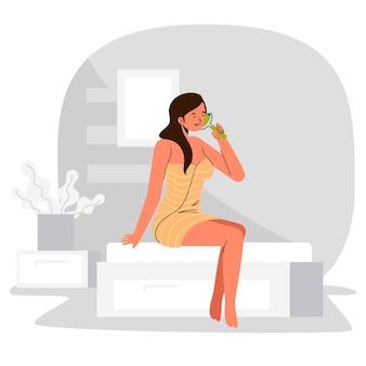 Kobieta wyciągnąć rękę z jadeitowym wałkiem