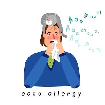 Kobieta z alergią na kota