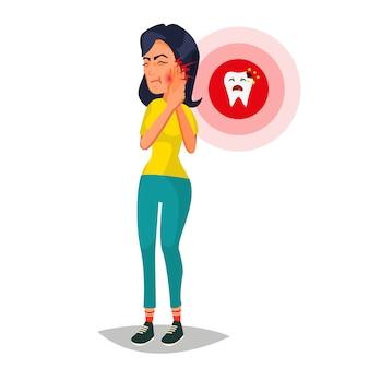 Kobieta z ból zębów ilustracji