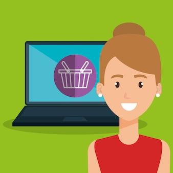 Kobieta z charakterem laptopa