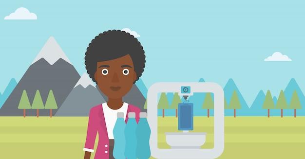 Kobieta z drukarką trójwymiarową