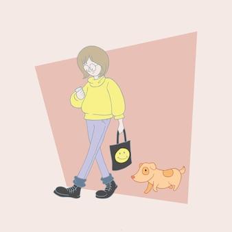 Kobieta z jej zwierzakiem.