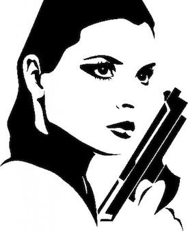 Kobieta z pistoletu