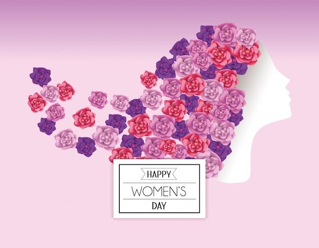 Kobieta z róż włosy świętować międzynarodowego wydarzenie