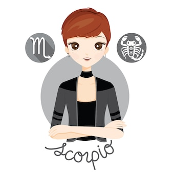 Kobieta ze znakiem zodiaku skorpiona