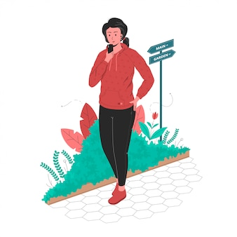 Kobieta zrobić sobie przerwę po porannym biegu w ogrodzie