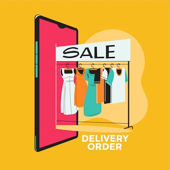 Kobiety biznesu, wybierając sukienkę na zakupy w internecie e-commerce