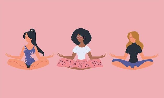 Kobiety praktykujące medytację