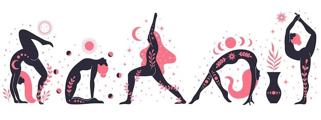 Kobiety robią jogę