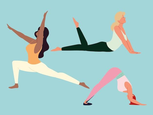 Kobiety robiące jogę