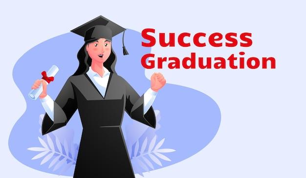 Kobiety sukcesu dostają ukończenie studiów