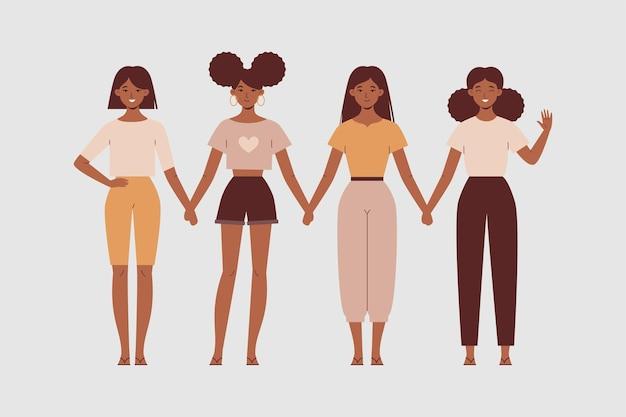 Kobiety trzymają się za ręce