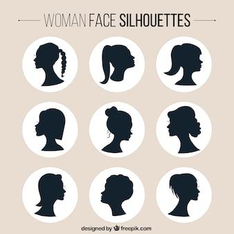 Kobiety twarzy sylwetki