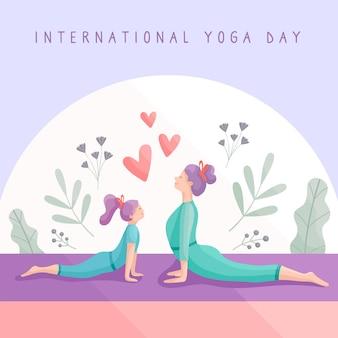 Kobiety uprawiające jogę razem