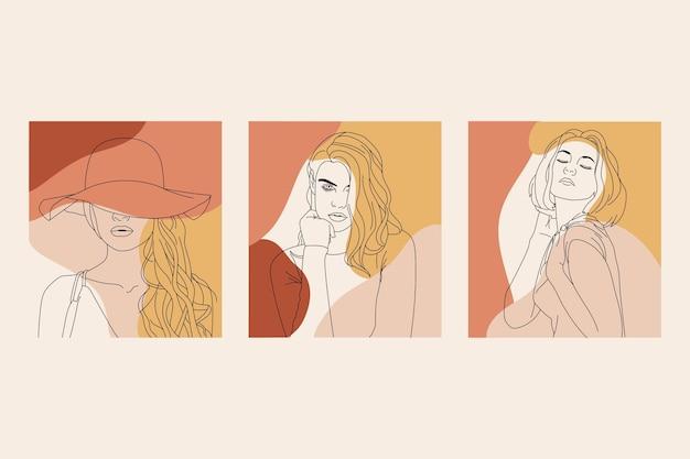 Kobiety w eleganckim stylu graficznym