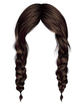 Kobiety włosy brązowy kolor dwa warkocze