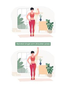 Kobiety wykonujące ćwiczenie na jednym ramieniu z paskiem na ramię;