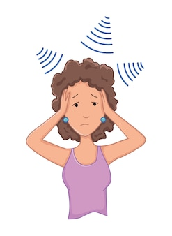 Kobiety z objawem stresu - depresja. problem ze zdrowiem emocjonalnym lub psychicznym, stres. koncepcja postaci z kreskówek.
