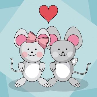 Kochające myszy pary