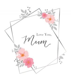 Kocham cie mamo. kartkę z życzeniami na dzień matki.