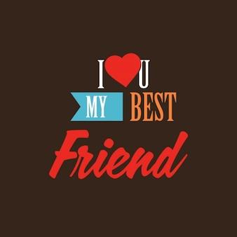 Kocham cię mój najlepszy przyjaciel karty