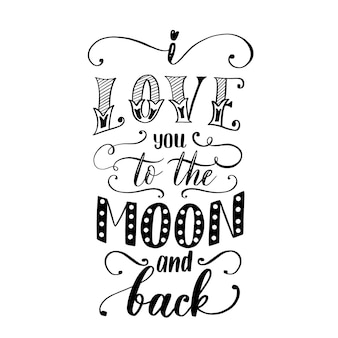 Kocham cię ... na księżycu i plecach