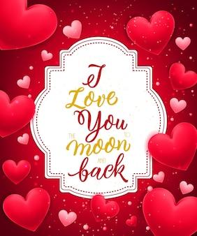 Kocham cię napis z serca
