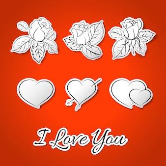 Kocham cię! walentynki.