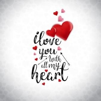 Kocham cię z całą moją kartą typograficzną serca