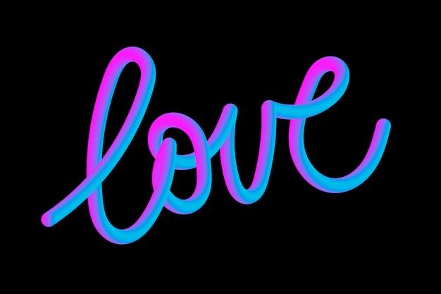 Kocham slogan typografii rysując nowoczesny slogan mody