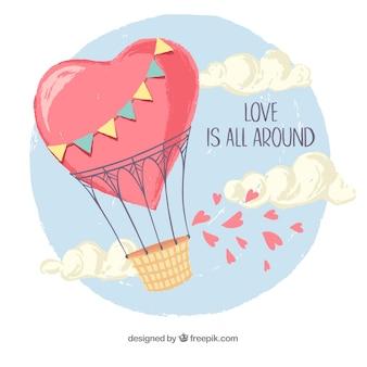 Kocham tło z balonu